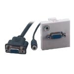 MCL BM802/45VJ toma de corriente VGA + 3,5 mm Blanco