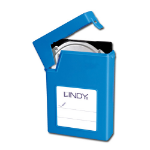 "Lindy 40686 storage drive enclosure 3.5"" Blue"