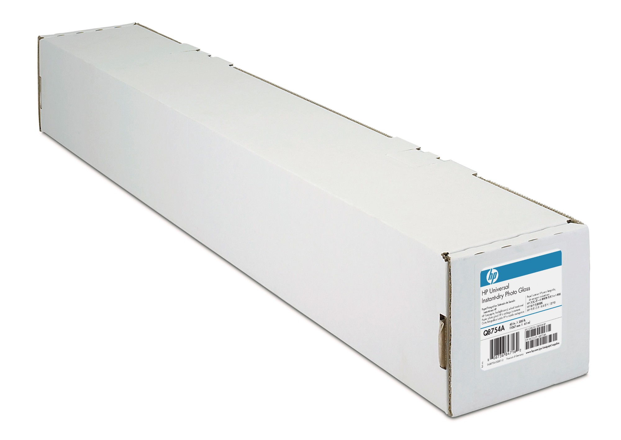 HP Universal Instant-dry Gloss -1067 mm x 30.5 m (42 in x 100 ft) photo paper Brown, White