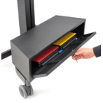 Ergotron TeachWell MDW Storage Bin desk drawer organizer Steel Graphite