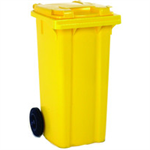 VFM REFUSE CONTAINER 80L 2 WHLD YLW 331331