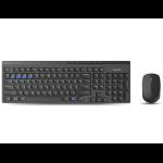 Rapoo 8100M keyboard RF Wireless + Bluetooth Black
