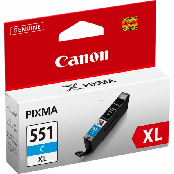 Canon 6444B001 (CLI-551 CXL) Ink cartridge cyan, 695 pages, 11ml