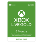Microsoft XBOX Live Gold 6 Months Membership Card