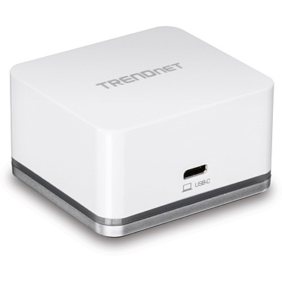 Trendnet TUC-DS1 notebook dock/port replicator Wired USB 3.0 (3.1 Gen 1) Type-C Silver,White
