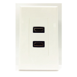 4XEM 4XWALLHDMI2 outlet box White