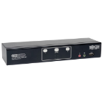 Tripp Lite 2-Port Dual Monitor DVI KVM Switch with Audio and USB 2.0 Hub, Cables included KVM switch