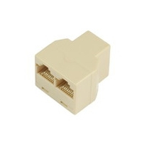Microconnect RJ45-2xRJ45 F-F Beige network splitter