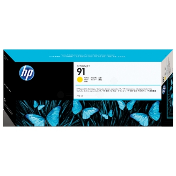 HP C9469A (91) Ink cartridge yellow, 775ml