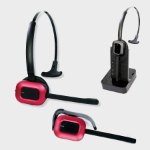 JPL X400-USB Monaural Ear-hook,Head-band Black,Red headset