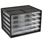 ITALPLAST DOCUMENT CABINET ITALPLAST A4 5 DRAWER BLACK(EACH)