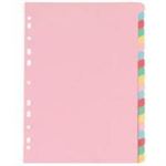 White Box Manilla Dividers A4 20 Part Multi-colour Tabs