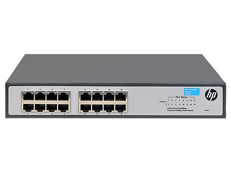 Hewlett Packard Enterprise 1420-16G Unmanaged L2 Gigabit Ethernet (10/100/1000) Grijs 1U