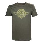 Star Wars Adult Male Yoda Word Play T-Shirt, Medium, Green (TS110617STW-M)