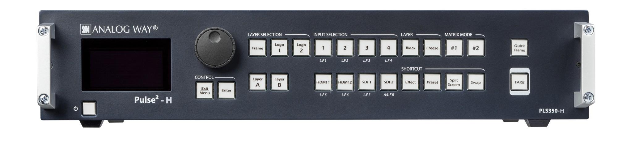 Analog Way Pulse² - H Media presentation matrix switcher Built-in display 155 W