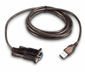 Intermec USB to Serial Adapter RS-232 Negro