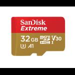 Sandisk Extreme memoria flash 32 GB MicroSDHC Clase 10 UHS-I