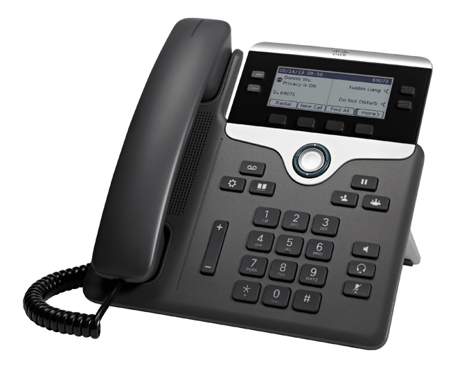 Cisco 7841 IP phone Black,Silver Wired handset LCD 4 lines