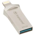 Transcend JetFlash 64GB JetDrive Go 500 64GB USB 3.0 (3.1 Gen 1) Type-A Silver USB flash drive