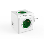 Allocacoc PowerCube Original USB base múltiple 4 salidas AC Interior Verde, Blanco