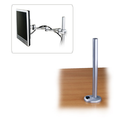 Lindy 40962 flat panel desk mount Silver