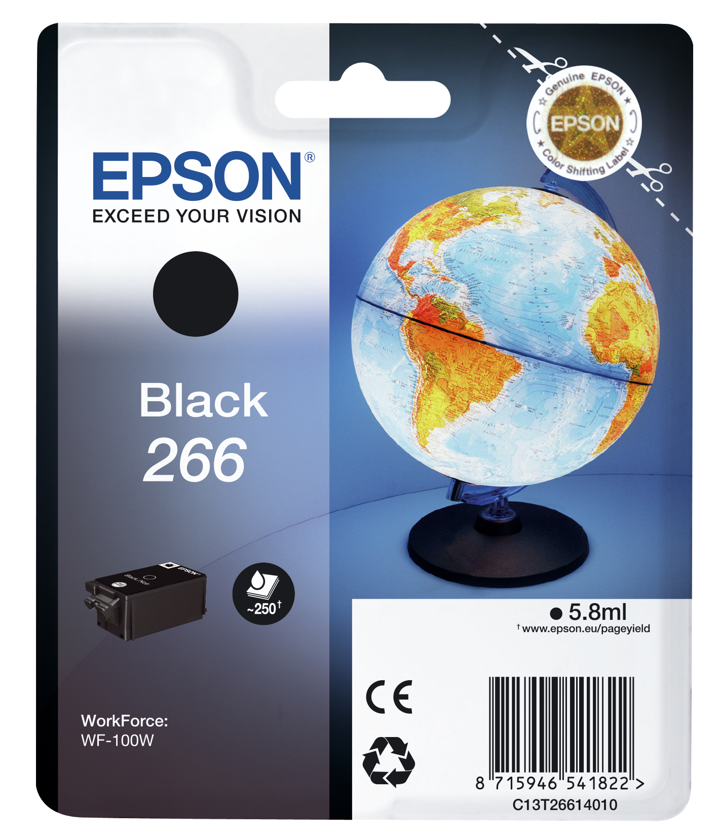 Epson Globe Singlepack Black 266 ink cartridge