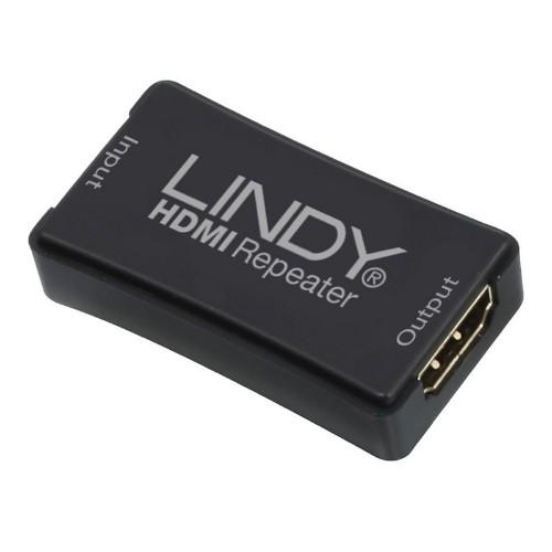 Lindy 38015 AV extender AV repeater Black