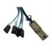 Microconnect SFF8088/4XSATA1 Serial Attached SCSI (SAS) cable