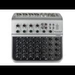 Monoprice 615808 audio mixer 8 channels 20 - 20000 Hz Black,Grey