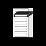 Avery L7674-25 printer label White Self-adhesive printer label