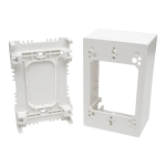 Tripp Lite Single-Gang Surface-Mount Junction Box, White