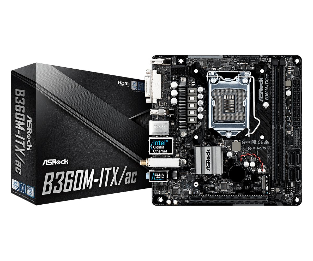 Asrock B360M-ITX/ac Intel® B360 LGA 1151 (Socket H4)
