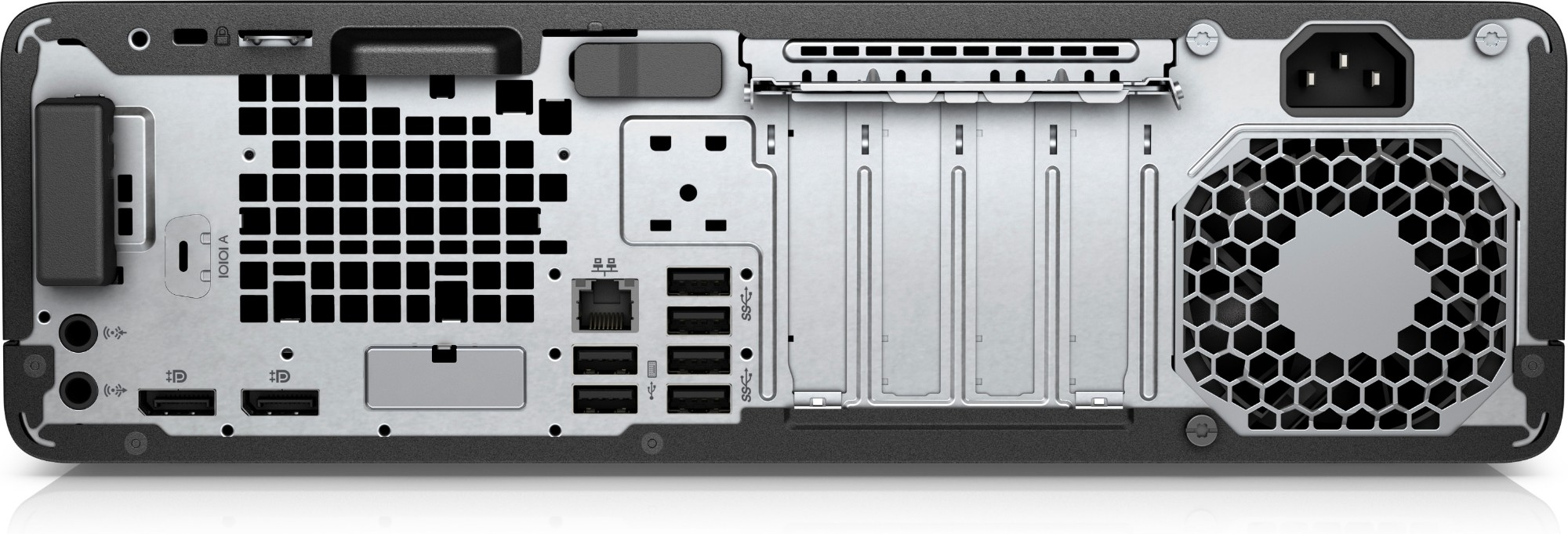 HP EliteDesk 800 G4 8th gen Intel® Core™ i3 i3-8100T 8 GB DDR4-SDRAM 1256  GB HDD+SSD Black Mini Tower PC