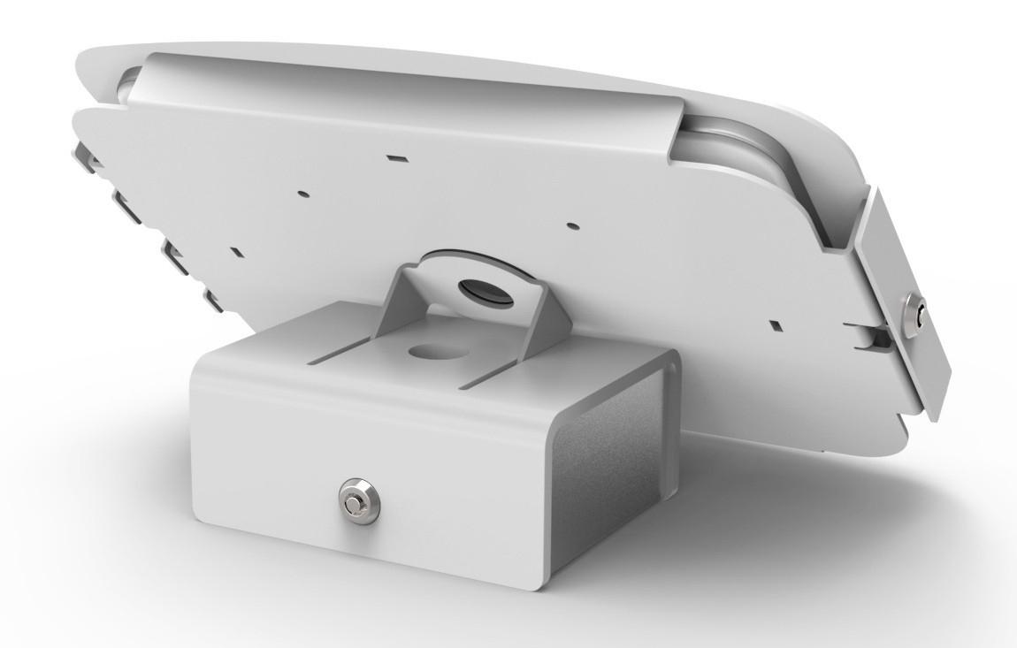 Maclocks Flip Kiosk - Stand for tablet - lockable - aluminium - white - wall-mountable, desktop stand - for A