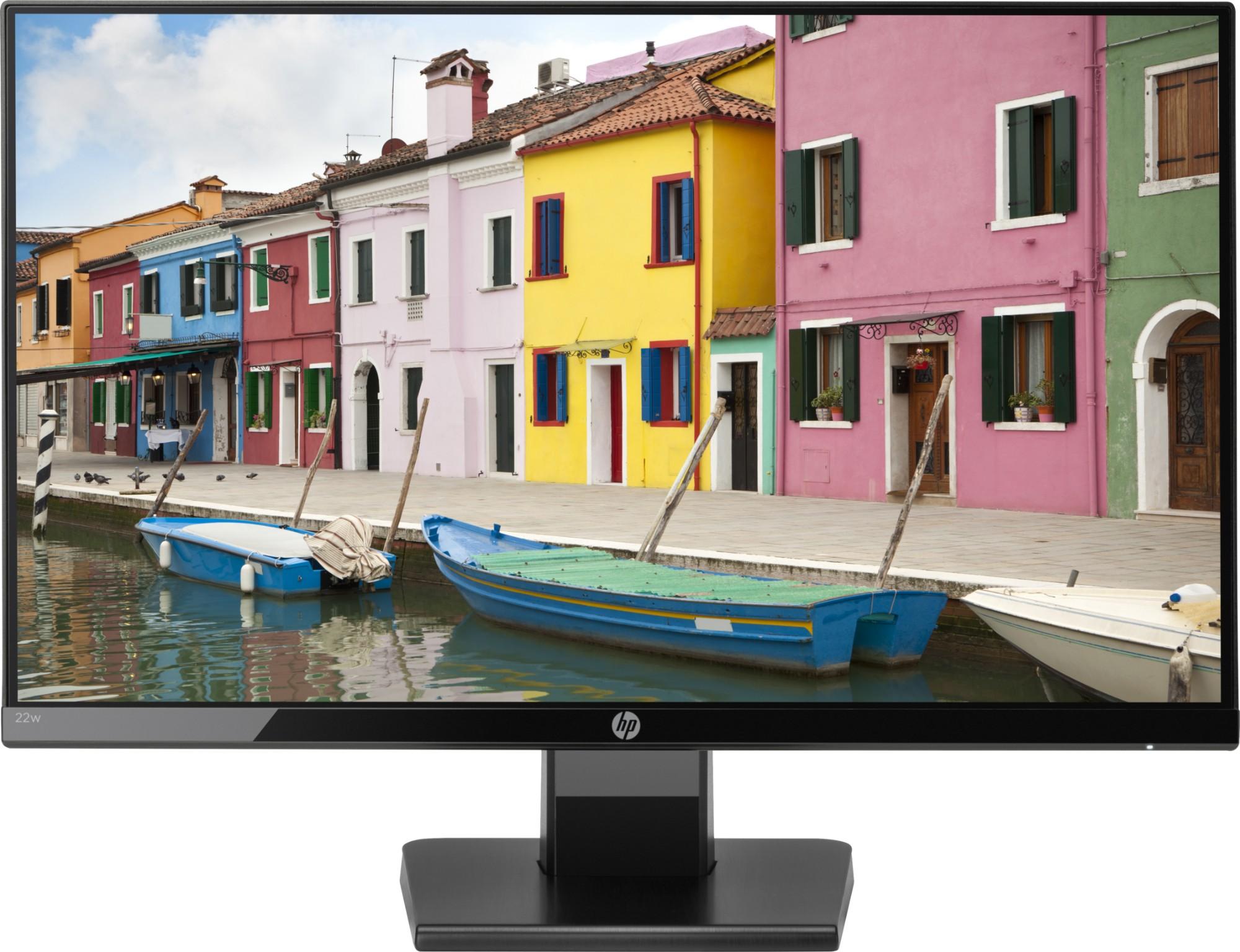 """HP 22w 54,6 cm (21.5"""") 1920 x 1080 Pixeles Full HD LED Negro"""