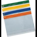 "Snopake ""Zippa Bag S"" Assorted Colour Packs Plastic Transparent folder"