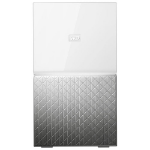 Western Digital MY CLOUD HOME Duo personal cloud storage device 6 TB Eingebauter Ethernet-Anschluss Silber, Weiß