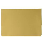 White Box WB DOCUMENT WALLET FOOLSCAP YELLOW 220GM