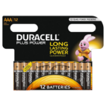 Duracell AAA Plus Batteries PK12