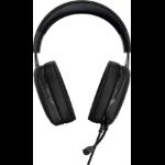 Corsair HS50 Binaural Head-band Black, Blue headset
