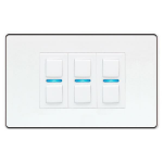 Lightwave L23WH dimmers Smart dimmer Mountable Black,White