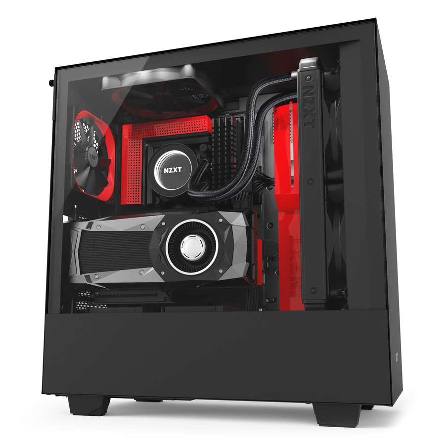 NZXT H500i Midi-Tower Black, Red computer case