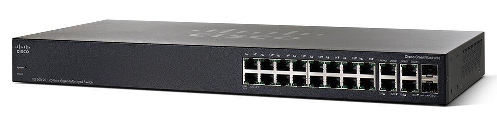 Cisco Small Business SG350-20 Gestionado L2/L3 Gigabit Ethernet (10/100/1000) Negro 1U