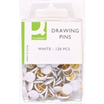 Q-CONNECT Q CONNECT DRAWING PINS 120PK WHITEPK10