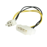 StarTech.com LP4P4ADAP Internal 0.152m Molex (4-pin) ATX (4-pin) Black,White,Yellow Power Cable