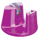 TESA Easy Cut Compact Tape Dispenser for 19mm Tapes Plus 1 Roll of 15mmx10m Tape Pink