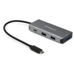 StarTech.com 4 Port USB C Hub (10Gbps) to 3x USB-A & 1x USB-C - 100W Power Delivery Passthrough Charging - Portable USB 3.1 Gen 2/USB 3.2 Gen 2 Type C Laptop Adapter - Works w/ TB3