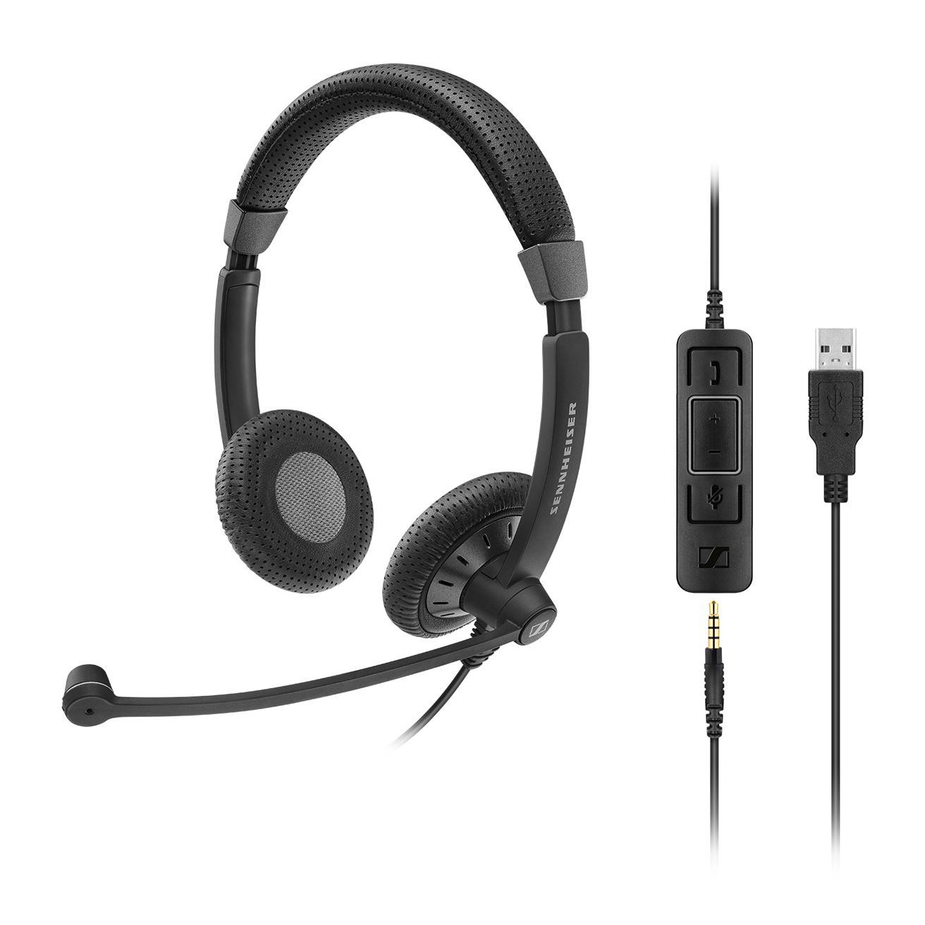 Sennheiser SC 75 USB CTRL Binaural Head-band Black headset