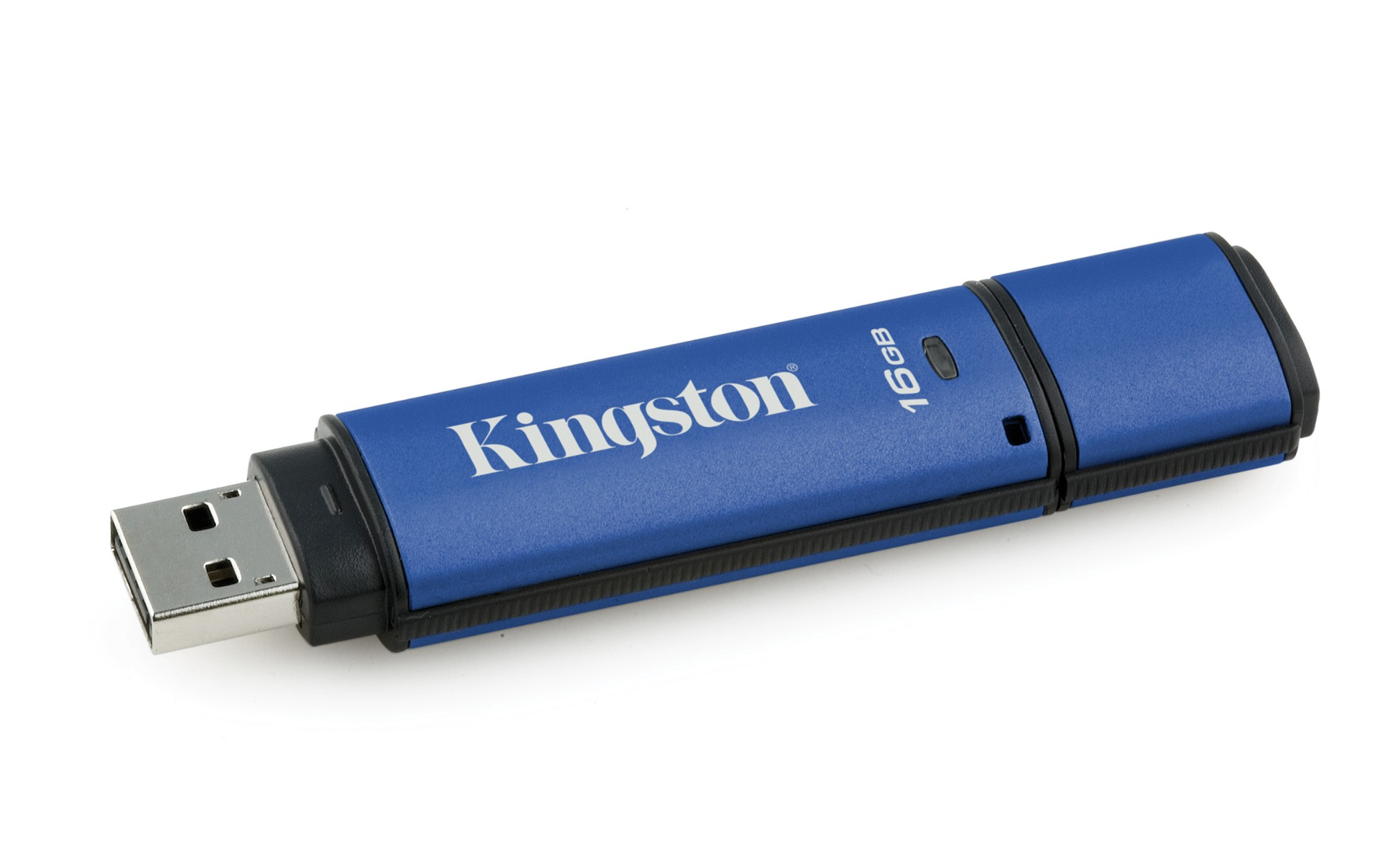 Kingston Technology Vault Privacy 3.0 with Management 16GB USB flash drive USB Type-A 3.0 (3.1 Gen 1) Zwart, Blauw