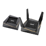 ASUS RT-AX92U 2 Pack wireless router Gigabit Ethernet Tri-band (2.4 GHz / 5 GHz / 5 GHz) Black, Gold